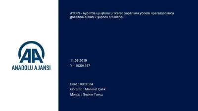Aydın'da Uyuşturucu Operasyonları