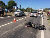 Motosiklet Otomobile Çarptı Açıklaması 1 Yaralı