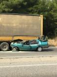 Otomobil Tırın Altına Girdi Açıklaması 1 Yaralı