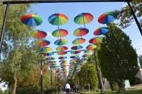 Gülşehir'de Şemsiyeli Sokak Büyük İlgi Görüyor