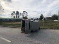 Kavşakta İki Otomobil Çarpıştı Açıklaması 1 Yaralı