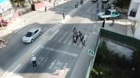 (Özel) İstanbul'da Zabıta Ekiplerinden Okul Önlerinde Drone İle Denetim
