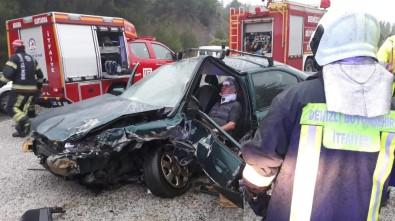 Denizli'de Trafik Kazası Açıklaması 1 Yaralı