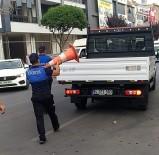 Düzce Belediyesi İzinsiz Bırakılan Levha Ve Dubalar Kaldırıldı