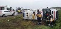 Hasta Nakli Yapan Ambulans Devrildi Açıklaması 5 Yaralı