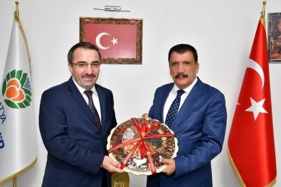 Kamu Hastaneleri Genel Müdürü Ataseven'den Başkan Gürkan'a Ziyaret