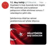 Muş Valiliğinden Diyarbakır'daki Sivil Şehitler İçin Taziye Mesajı