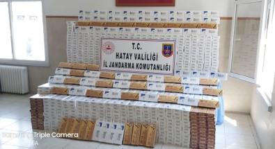 Suriye Sınırında 18 Bin 750 Paket Kaçak Sigara Yakalandı