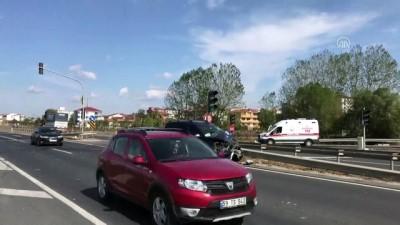 Tekirdağ'da Trafik Kazası Açıklaması 2 Yaralı