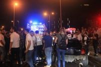 Makas Attığı İddia Edilen Araç Önce Bariyerlere Sonra Başka Bir Otomobile Çarptı Açıklaması 5 Yaralı