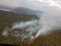 Ortaca'daki Yangın İçin Bölgeden Helikopter Desteği Geldi