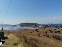 İzmir'de Makilik Ve Otluk Alanda Yangın