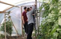 MURAT ÇELIK - Meslek Lisesi Öğrencileri Okul Bahçelerine Akıllı Sera Kurdu