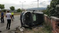 Samsun'da Otomobil Evin Duvarına Çarptı Açıklaması 1 Yaralı