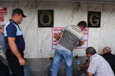 Düzce'de 'Şifalı' Olarak Bilinen Su Çeşmesi Mühürlendi
