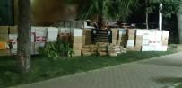 Gazete Kaplı Camdan Şüphelenen Polis 240 Kilo Kaçak Tütün Yakaladı