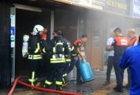 Menteşe'de İş Hanında Yangın