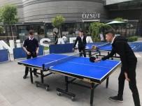 Açık Alan Masa Tenisi Turnuvası Düzenleniyor