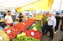 PAZARCI ESNAFI - Başkan Bıyık, Pazarda Vatandaşlarla Buluştu