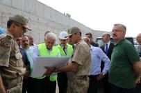 Binali Yıldırım Jandarma Komando Tabur Komutanlığı İnşaatında İncelemelerde Bulundu