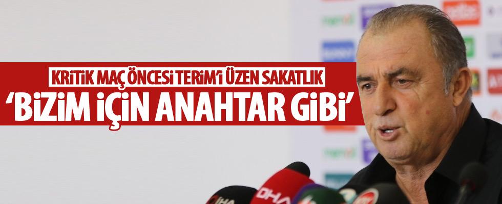 Fatih Terim'i üzen sakatlık!