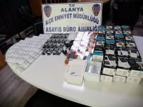 Alanya'da Kaçak Cep Telefonu Operasyonu