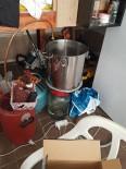 Alanya'da Sahte İçki İmalatı Yapılan Depoya Polisten Baskın
