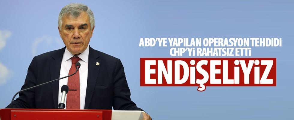 CHP terör örgütüne yapılacak operasyona karşı!