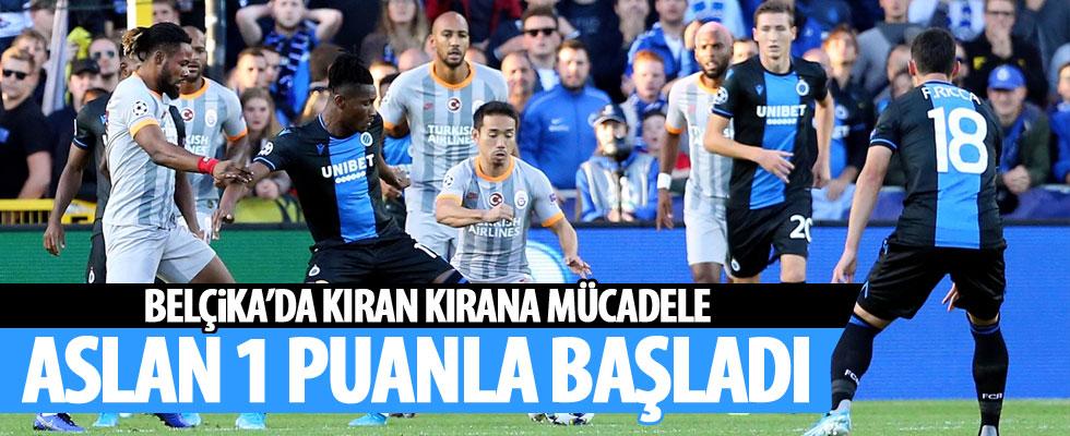 Galatasaray, Club Brugge deplasmanından 1 puanla döndü