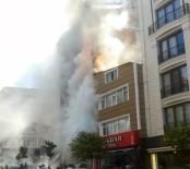 Kağıthane'de 6 Katlı Bina Alev Alev Yandı
