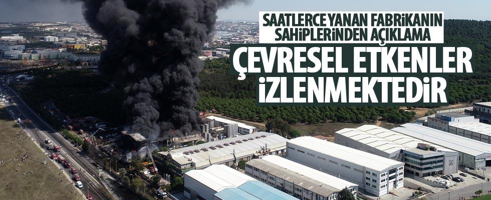 Tuzla'da yanan polyester fabrikasının sahiplerinden açıklama geldi!
