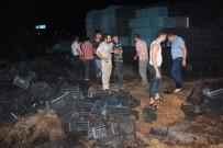 Alaşehir'de Plastik Kasa İmalathanesinde Yangın