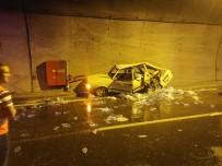Araklı Tüneli İçinde Kaza Açıklaması 3 Yaralı