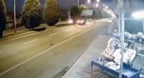 Yolun Karşısına Geçmek İsterken Otomobil Çarptı, O Anlar Kameraya Yansıdı