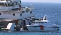 Bozcaada'da Karaya Vuran Gemi Sahil Güvenlik Tarafından Kontrol Edildi