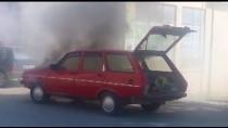 Demirköy'de Otomobil Yangını