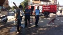 Seyir Halindeki LPG'li Otomobil Alev Aldı, Faciadan Dönüldü