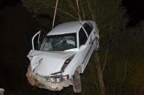 Sürücü Kalp Krizi Geçirdi Açıklaması Otomobil Sulama Kanalına Girdi