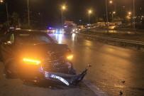 Alkollü Sürücü Bir Otomobile Çarpıp Takla Attı
