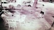 Antalya'da İş Yerinin Kundaklanma Anı Güvenlik Kamerasında