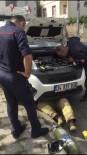 (Özel) Aracın Motoruna Sıkışan Kediyi Kurtarma Operasyonu Kamerada