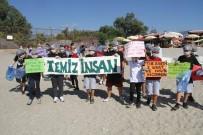 Alanya'da Çocuklar Sahil Temizliği Yaparak, Çevre Kirliliğine Dikkat Çekti