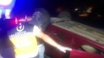 Bursa'da Otomobil Devrildi Açıklaması 1 Yaralı