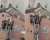 (Özel) Çatıdaki İpe Ayağı Takılan Martıyı Kurtarma Operasyonu Kamerada
