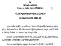 MARMARA EREĞLISI - İstanbul Valiliğinden Deprem Açıklaması