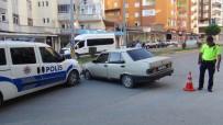 Olay Yerine Giden Polis Aracına Otomobil Çarptı