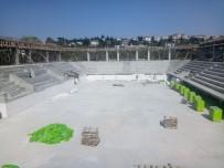 Darıca'nın Dev Spor Salonunun Tribünleri Belirginleşti