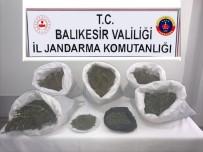 Manyas'ta 10 Kilogram Esrar Yakalandı