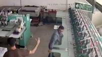 (Özel) Deprem Anında Canını Hiçe Sayıp Koca Makineleri Tutmaya Çalıştı