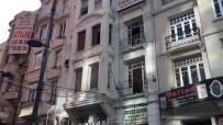 (Özel) Şişli'de Deprem Sonrası 6 Katlı Tarihi Binada Çatlaklar Meydana Geldi